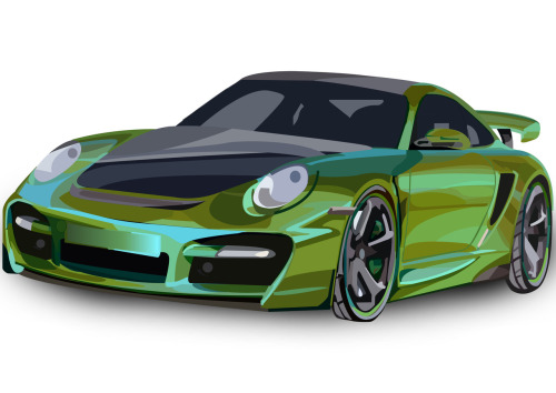 The Porsche 911 Turbo! In green.