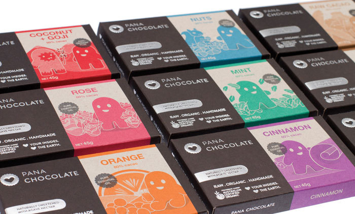 Pana Chocolate, designed by Porsha Marais. Successful package design = know your audience!