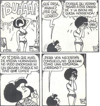 buenhumor:  Mafalda - first world problems  Mafalda sabe.