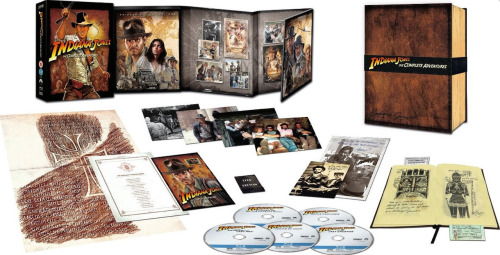 The contents of the special edition of the forthcoming Indiana Jones box-set. (via blu-ray.com)