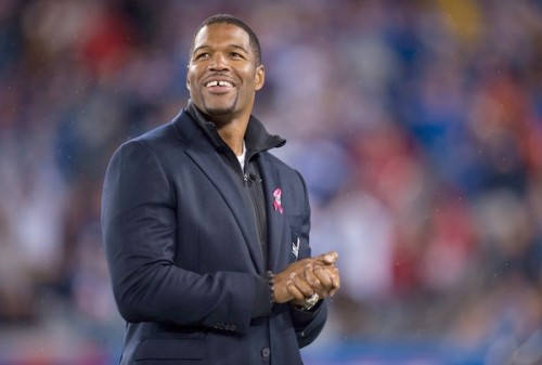 "Michael Strahan becomes Kelly Ripa's co-host Kelly Ripa's got a new morning TV partner: Michael Strahan.  It's not the name most people expected to hear as the choice for Kelly Ripa's new permanent sidekick, but once the thought settles in, the NFL superstar with the monster build and America's tiniest sweetheart could prove to be a winning combination, TV analysts say. [[MORE]] ""We finally have our new guy. That's right, I said guy,"" Ripa said on the show today as she introduced the former football star. ""It's an exciting morning"".  Nearly ten months after Regis Philbin retired and 59 guest hosts later — what essentially amounted to live auditions for everyone involved — 40-year-old Strahan, who played his entire football career for the New York Giants — where he set the record for the most sacks in a single season in 2001 and won a Super Bowl in 2008, his final year — has finally landed the gig. Since 2008, he's served as a football analyst on 'Fox NFL Sunday,' a host on 'Pros v. Joes,'and produced and starred in the short-lived Fox sitcom 'Brothers' in 2009.  Strahan appeared 23 times on 'LIVE! With Kelly,' where he demonstrated he's as comfortable interviewing celebrities as he is hanging out with porcupines and parrots. Recently, he even stripped for Channing Tatum on the show. In a ShowBiz Tonight interview, in May, Strahan said he was hoping to the land the job because it ""fits my personality. I get along with Kelly great. I love her. She's really a sweetheart, and what you see on the show is what you get off the show. Which is very much me. You see me now? This is what you're gonna get. 'Cause I'm not trying to fool anybody and be something I'm not. It's too hard to live up to those things."" ""I'm speechless,"" Strahan said on the show today. ""It's a dream come true"". Other candidates for Philbin's old job included head SNL writer Seth Meyers and NY1 anchor, Pat Kiernan. Many co-hosts ""came for fun,"" like Neil Patrick Harris, Josh Groban, Nick Lachey and Ripa's husband, Mark Consuelos."