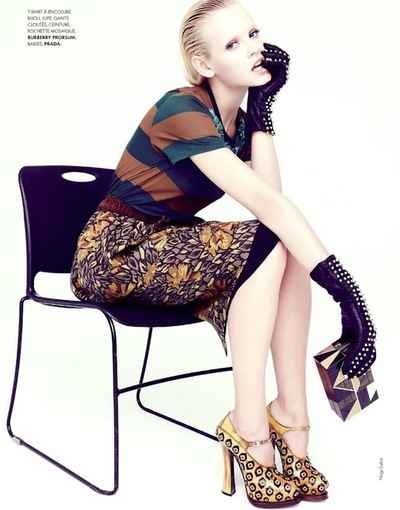 relaxed love-1302:  Ginta lapina by nagi sakai for Elle France August 2012