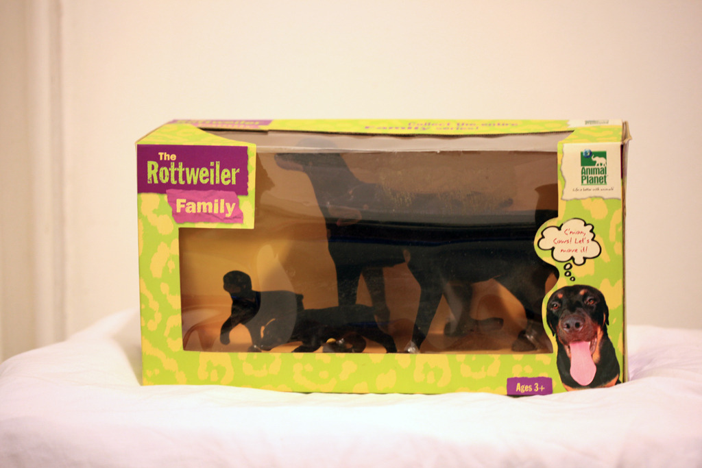 For sale are these adorable Animal Planet Rottweiler Family Figurines.  The figures are new in box and can be the perfect gift for any Rottweiler or dog enthusiasts.  The starting bid is just $0.01!!