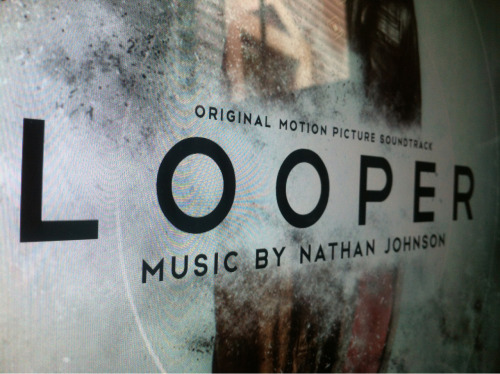 themadeshop:  nathanjohnson:  Guess who's finalizing the artwork for the Looper soundtrack?! Damn straight, it's Marke at The Made Shop.  Damn straight.