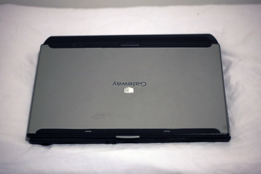 This laptop is broken but is great to use for parts.  Its hard drive is still functional, its monitor still works, and the motherboard and ram are ok too.  It just has a problem with the power connection.  With a starting a bid of $0.01, if you can fix it you have a $0.01 laptop.