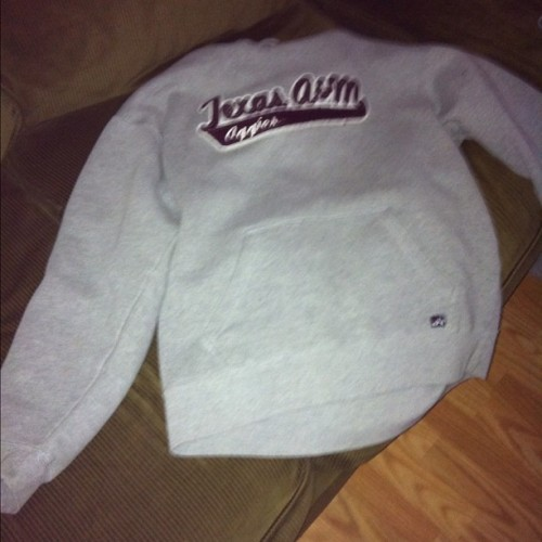 Me and my really really REALLY BIG a&m sweatshirt are taking a mental heath day after being trapped in the car with my dads mom and sis they serious put me in a depressed state. (Taken with Instagram)
