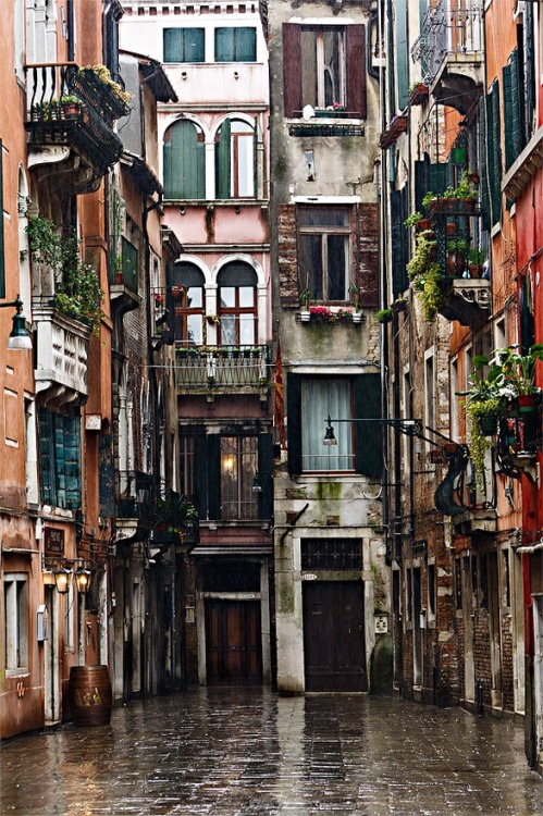 bluepueblo:  Rainy Day, Venice, Italy photo via doug