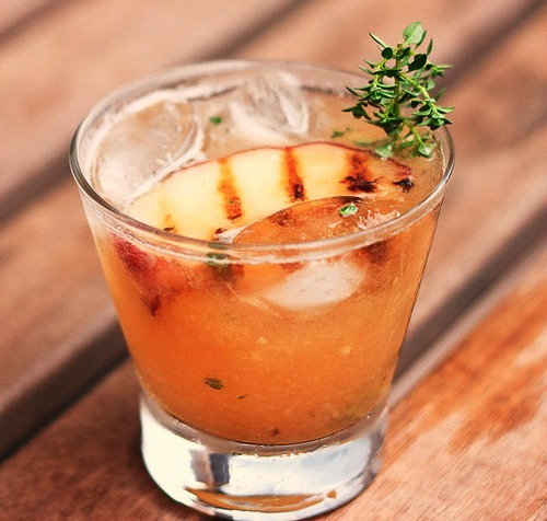 thirsty thursday | grilled peach cocktail