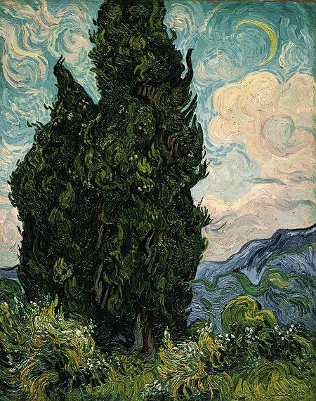 """Cypresses"" by Vincent van Gogh, in honour of #TreeTuesday Source: The MET"