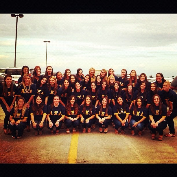 We're the rest above the rest, we are Alpha Xi 🐻💙💛 @axid_fiu #axid #alphaxidelta (Taken with Instagram)