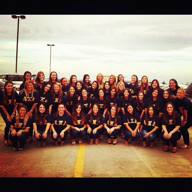 We're the best above the rest, we are Alpha Xi 🐻💛💙 #axid #alphaxidelta  (Taken with Instagram)