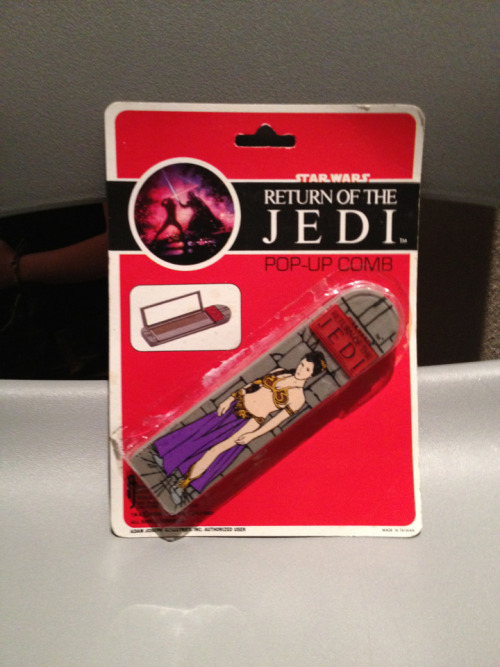 "ROTJ Princess Leia Comb. It's rare that I find something for the Empire Strikes Bath collection that I don't already own.  In this case I didn't even know this existed. The ""Slave Leia"" merchandise was scant in 1983, so this is one of the few examples from the original release. 1983, Adam Joseph Industries."
