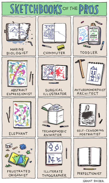 (Grant Snider: Sketchbooks of the Pros)