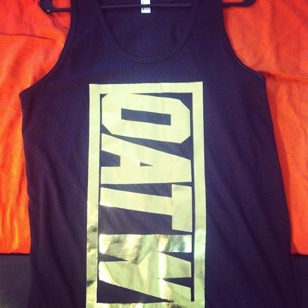 #BLACC&GOLD METALLIC TANK.. FUTURISTIC #OATW : OHIOAGAINSTTHEWORLD  (Taken with Instagram)