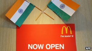breakingnews:  McDonald's reportedly opening 1st vegetarian only restaurant in India BBC:McDonald's plans on opening its first vegetarian outlet in India. According to the AFP news agency, the company will open the location in the middle of next year, near the Golden Temple in the Sikh holy city of Amritsar in northern India. According to reports, the chain also plans to open another vegetarian outlet in northwestern India, near the Vaishno Devi shrine in Kashmir, a Hindu pilgrimage site. Photo via AFP  yayaay :)