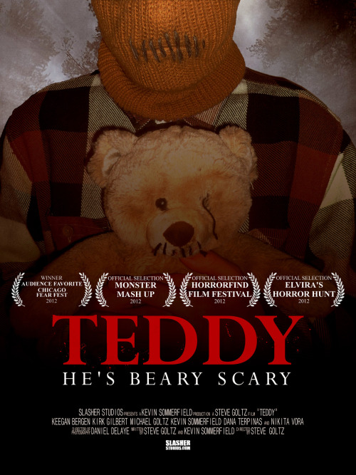 TEDDY is ready for the next film fest! Elvira's Horror Hunt, this Friday at 5PM at Horrorhound Weekend. Hope to see you slasher fans there.
