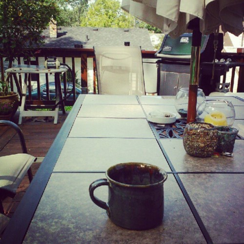 Coffee on the deck #relaxation (Taken with Instagram)
