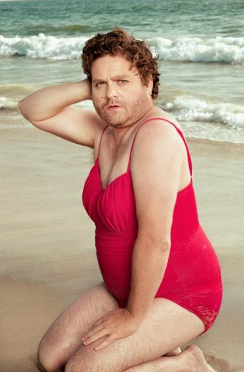 Zach Galifianakis as a Pin-Up Girl There's nothing sexier than a sense of humor.