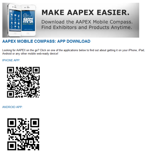 Going to AAPEX in Las Vegas later this year? Use your Mobile.