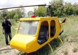 A Nigerian man built a working helicopter out of junk. Read the rest here. This is incredible. Why can't they employ people like this, who have something to offer us all?