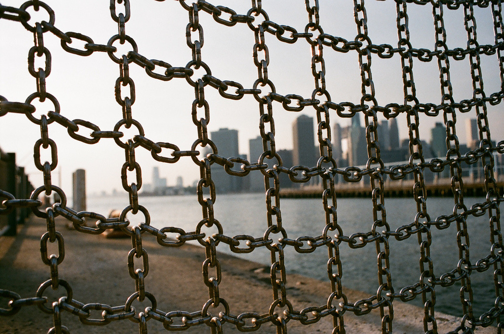 Grid  Nikon F3 | Superia 400  Brooklyn Bridge Park, Brooklyn, NY