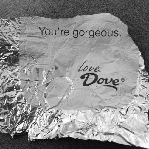 why thank you =) #dove #chocolate (Taken with Instagram)