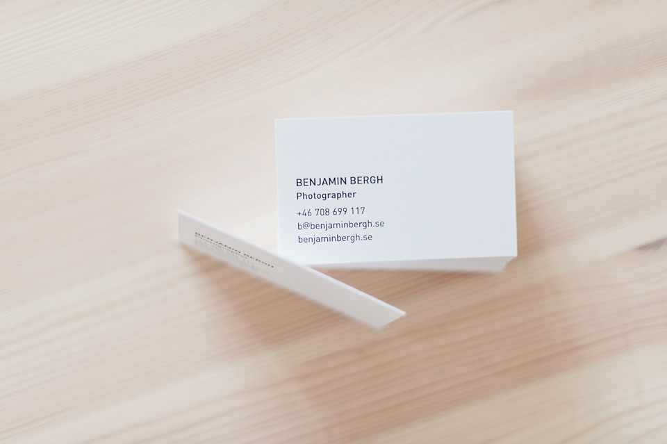 New business cards! 540 gsm colorplan, letterpressed at Göteborgstryckeriet.