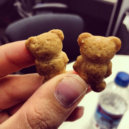 Michelle's Teddy Grahams have no faces… (Taken with Instagram at Rutgers Student Life Marketing Office)