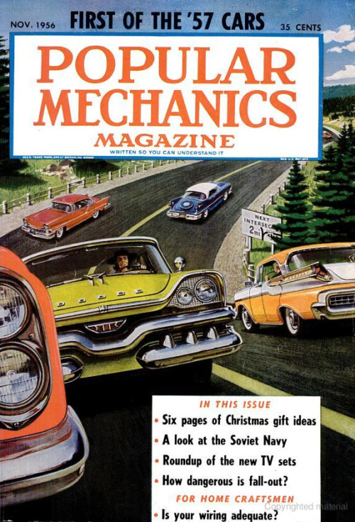 First of the '57 Cars!  Nov 1956 PopMech.