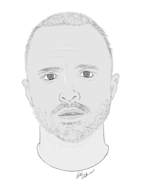 drew this last night, jesse pinkman (aaron paul) from breaking bad © nathan dallesasse