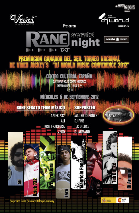 Rane Night. Sept/05/2012 21:00 hrs No Cover