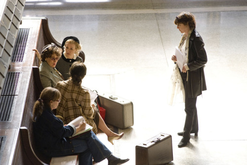 Director Nora Ephron filmed scenes that were meant to look like Paris metro terminals  at the New Jersey Railway Station - Hoboken Terminal. Photo Credit: The Academy