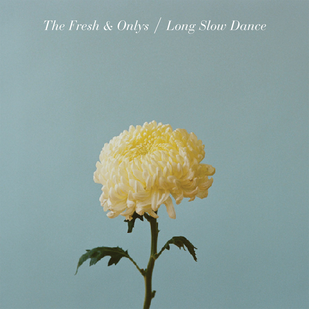 flower + type make a beautifully simple album cover for the fresh & onlys.