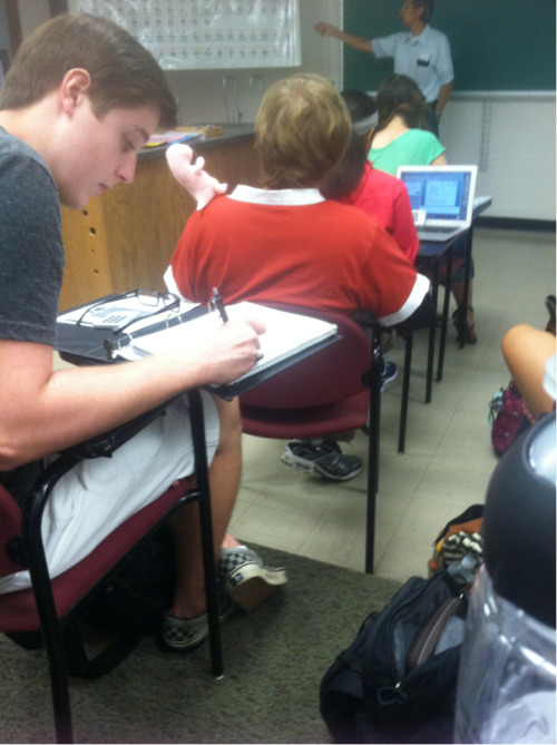 upontheworld:  Ron Stoppable is in my Chemistry class.