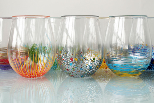 brit:  Does your glassware collection need a jolt of color? Grab some paint pens and get to work! Tutorial here.