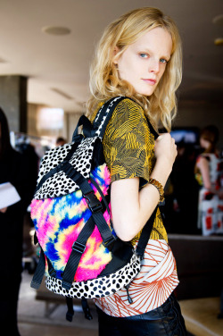 Hanne Gaby Odiele Shopping the London Show Rooms For VOGUE