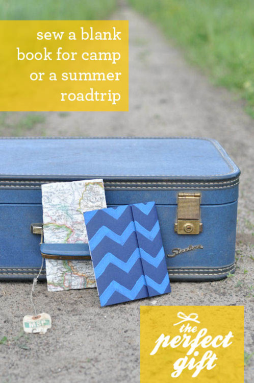 Bookmaking 101: Sew a Blank Book for a Summer Roadtrip