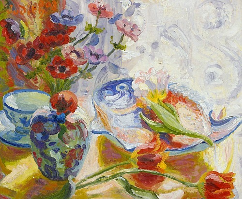 stilllifequickheart: 1908 Judith Gérard Ericsson-Molard (Swedish, 1881-?) ~ Flowers and Porcelain