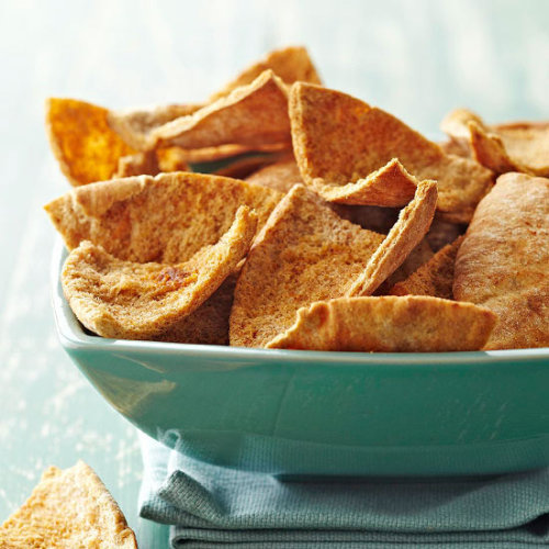Daily Dish: Our Savory Baked Pita Chips are delicious choice for fall tailgating.