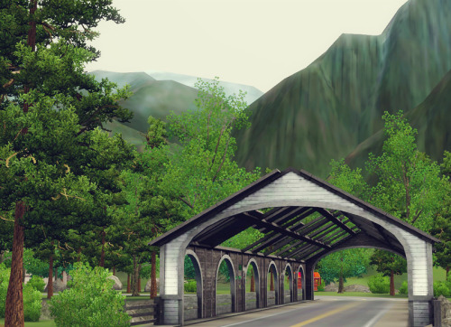 I love the covered bridges in Moonlight Falls. Sims 3 Supernatural