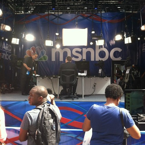 MSNBC! We're on Tee Vee!!! (Taken with Instagram at EpiCentre)