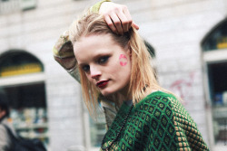 Hanne Gaby Odiele After Missoni in Milan Fashion Week 2011