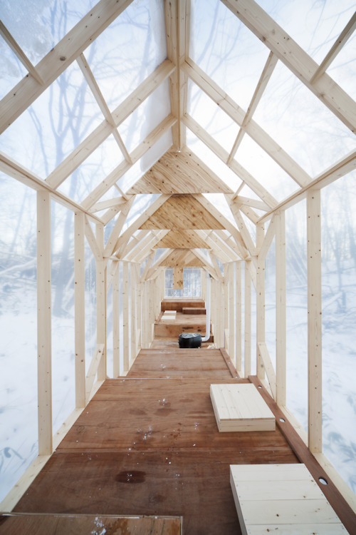 Fragile shelter in Sapporo, Japan