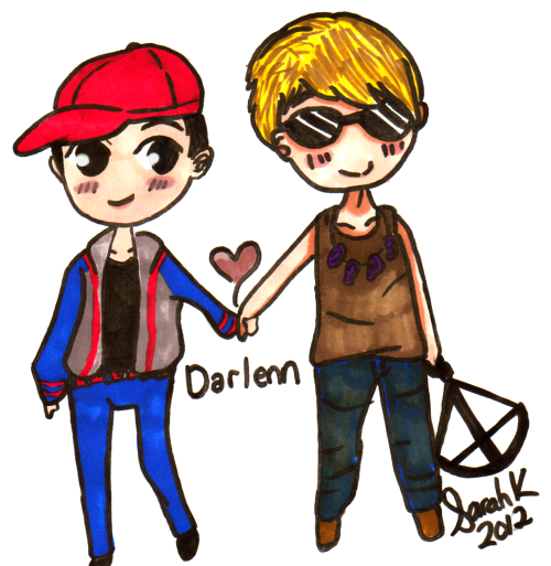 rainbowsurfer:  Daryl Dixon & Glenn l The Walking Dead l Darlenn