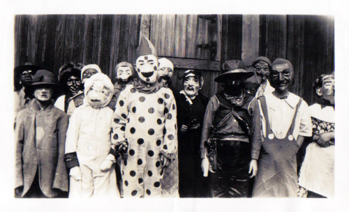 Kids in Halloween costumes c. 1920's