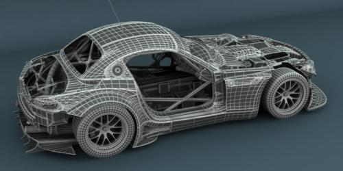 mrpocketrocket:  engineeringfuckyeah:  3D model of a BMW Z4 GT3  where can i get more like this?  If you want actual models, head over to GrabCAD!