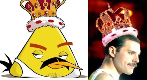 Freddie Mercury Joins Angry Birds Family As Freddie Mercury fans celebrate his memory on his birthday tomorrow, they can also enjoy a new animation of the Queen frontman in the addictive Angry Birds app. Now into it's third year, September 5th is known as Freddie for a Day, which helps raise funds to combat AIDS, the disease that claimed Freddie's life in 1991.   More