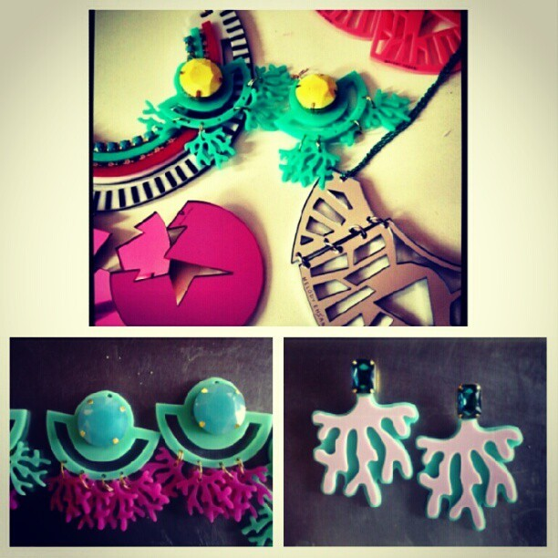 Sneaky peek of M.E. Jewels for Project Runway winner @anyayoungchee runway show tonight #melodyehsani #projectrunway #nyfw #anya (Taken with Instagram)