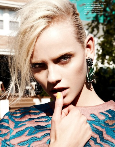 thebeautymodel:  Ginta Lapina by Nagi Sakai for Elle France.