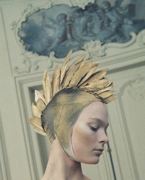lavandula:  irina kulikova at alexander mcqueen autumn/winter 2010-2011